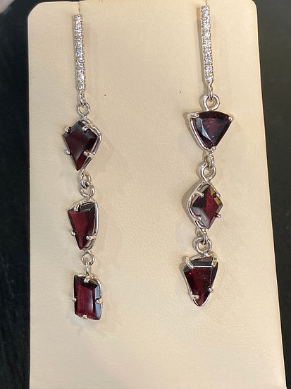 Katey Walker Garnet and Diamond Earrings