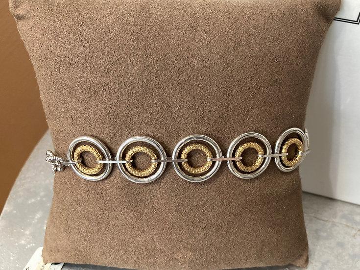 Designer 2 tone circle bracelet