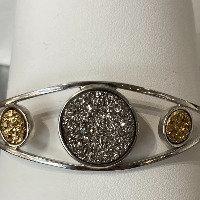 Designer sterling silver cuff bracelet