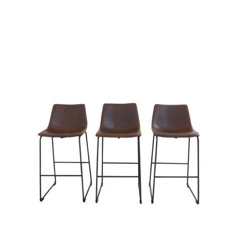 Leather Backed Barstools