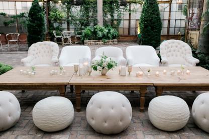All White Sahara Table Seating