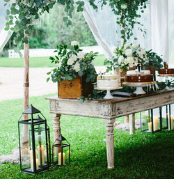 French Farm Table Cake Display