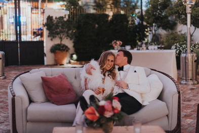 Alexandria Sofa @ a Winter Wedding