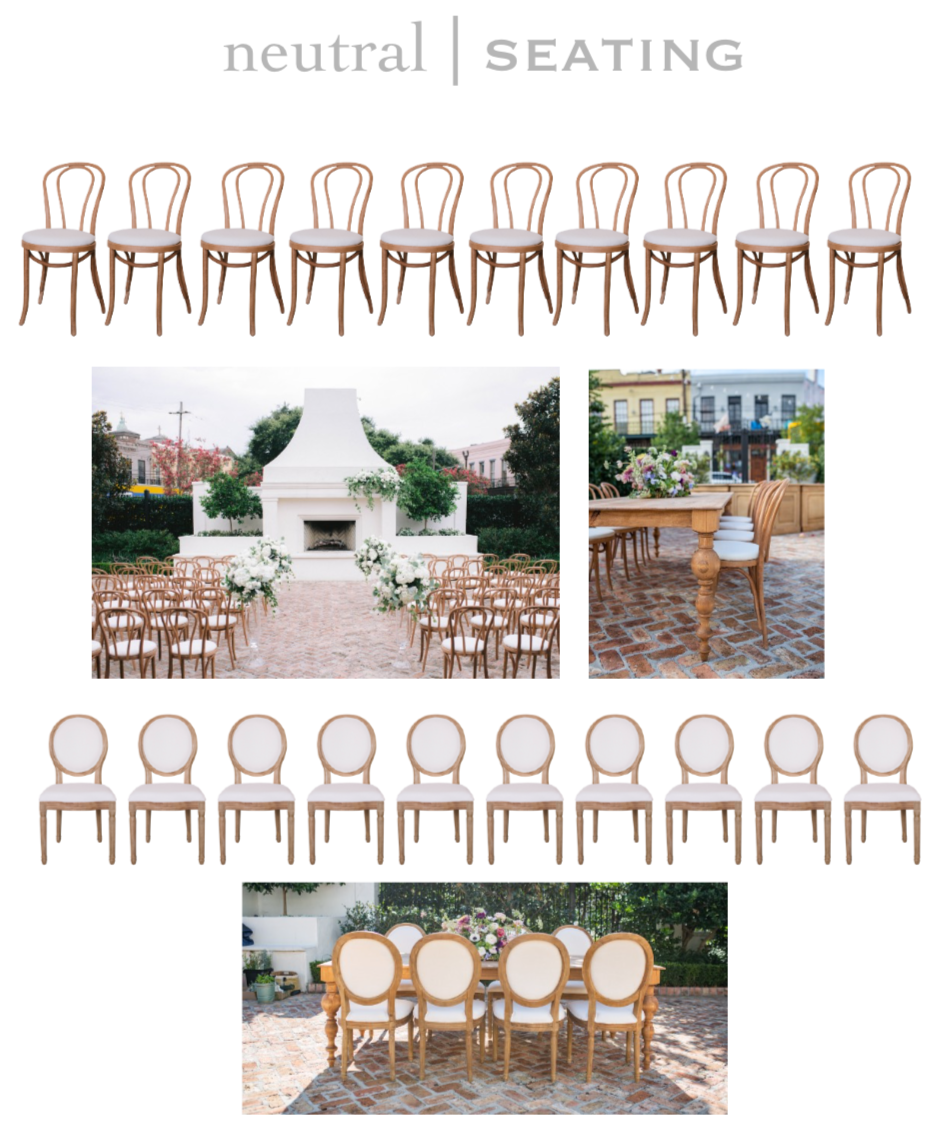 Neutral Ceremony and Dining Chairs