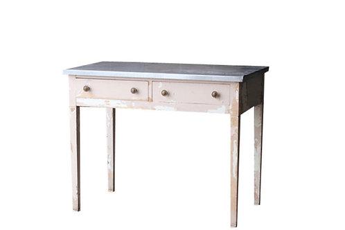 Pink Zinc Top Desk