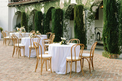 Bentwood Chairs with Linens on Tables