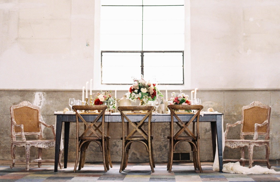 Harvest Tables and Edith Chairs