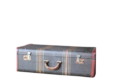 Navy Stripe Suitcase