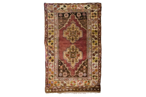 Deep Red Turkish Rug