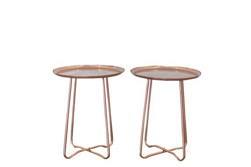 Copper Clean Lines Side Tables