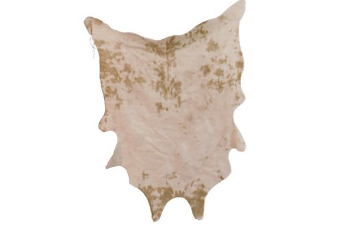 Cream and Tan Cow Hide Rug