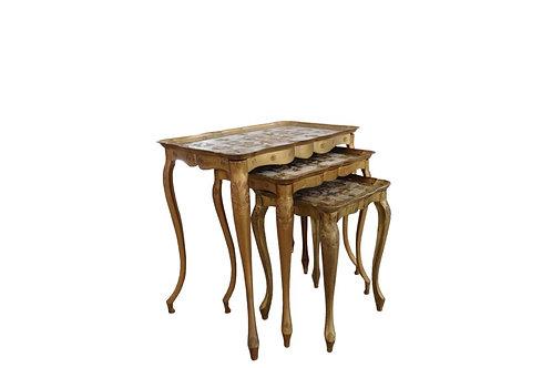 Gold Italian Nesting Tables