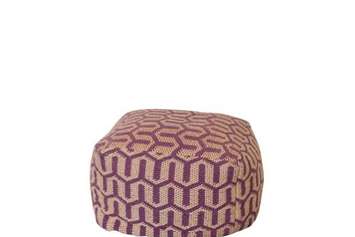 Purple Jute Pouf