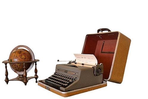 Encased Typewriter
