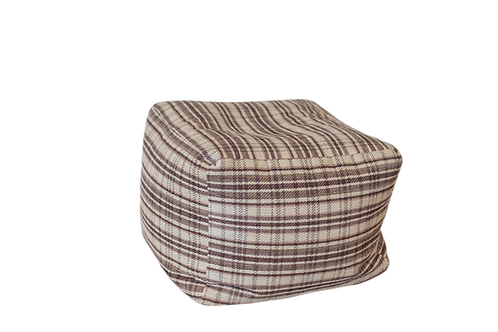 Plum Plaid Pouf
