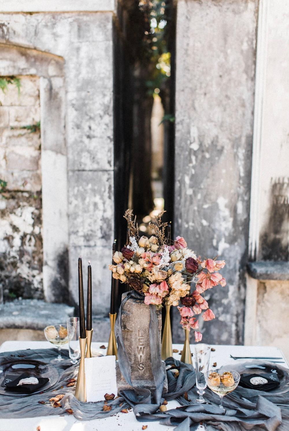 Gothic Halloween Wedding Rental Inspiration