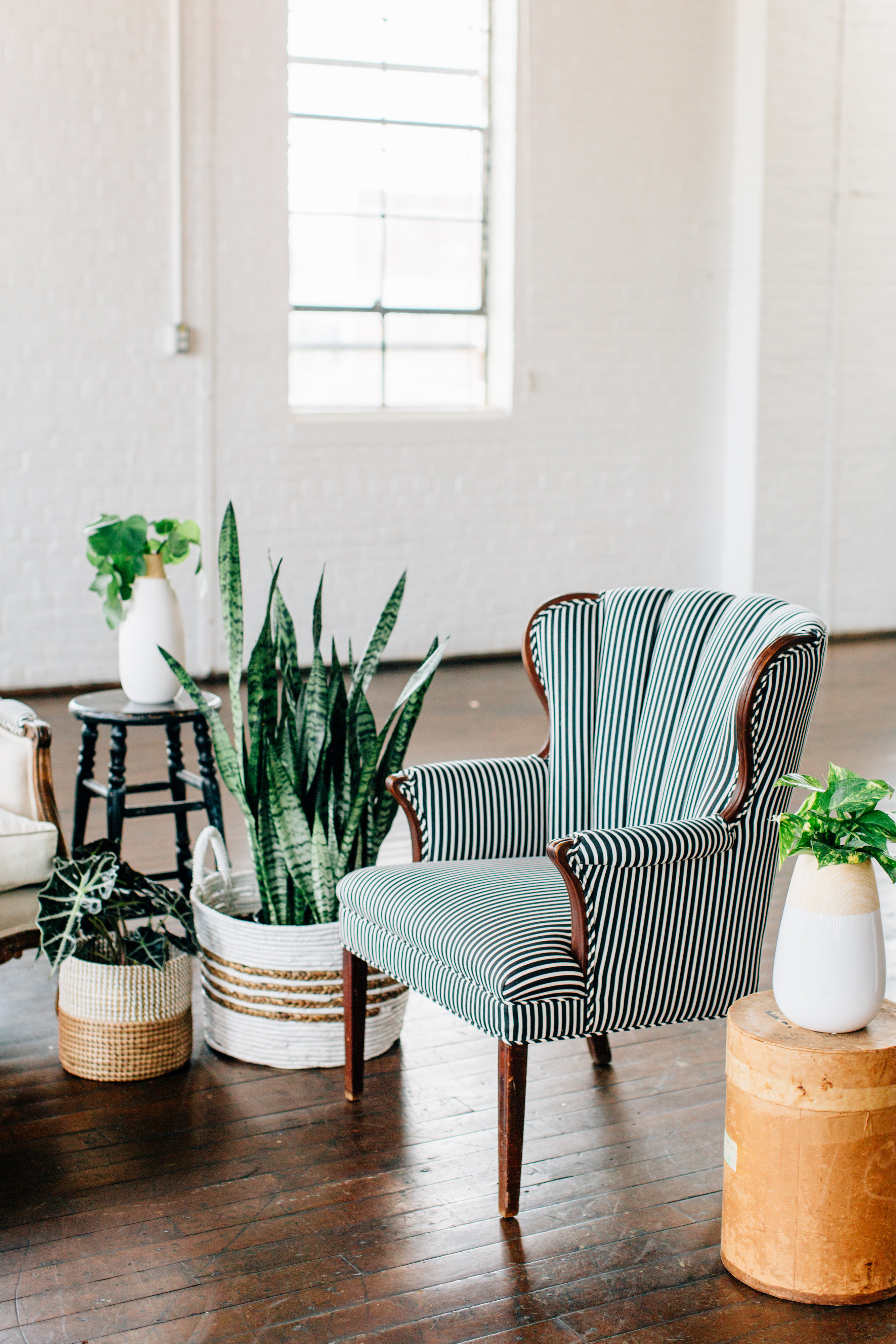 Distressed Rentals Inventory Atlanta - Striped Couches-0032