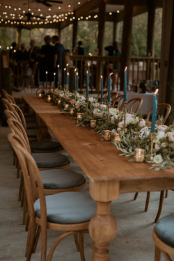 Woodland Table + Smoky Blue Bentwoods