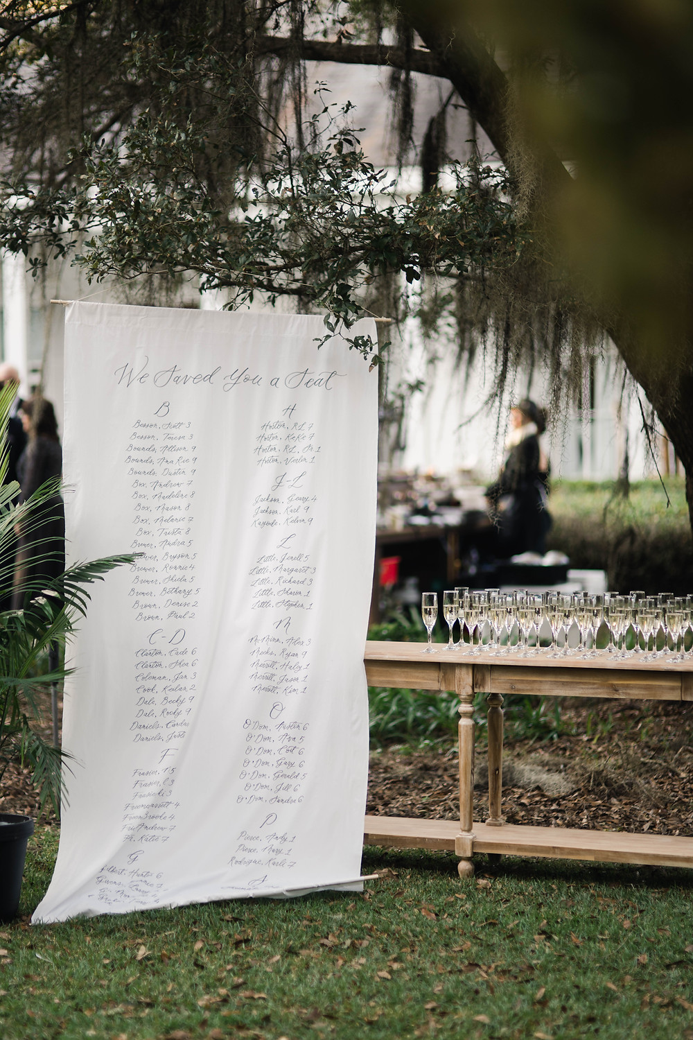 Seating Chart and Champagne Wedding