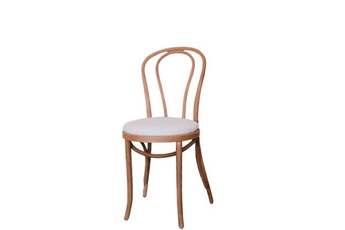 Bentwood Chair with Cream Linen Cushion