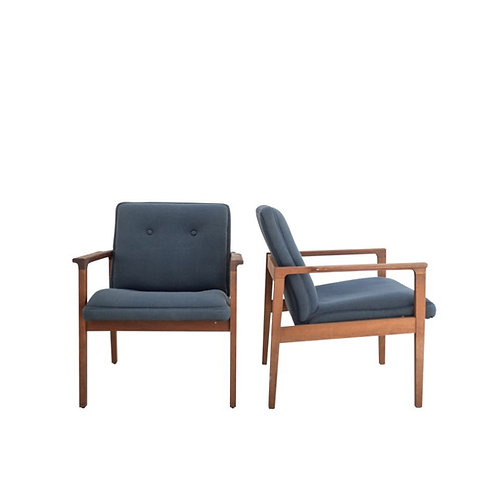 Mid-Mod Teal Chairs