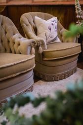 Tassel Chairs + Handpainted Pillows