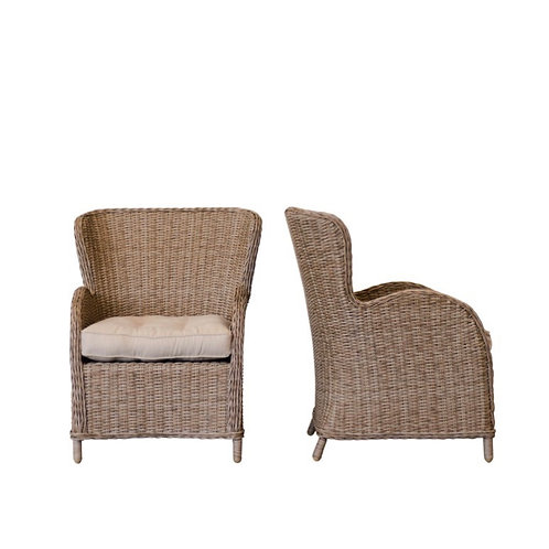 Wingback Wicker Chairs