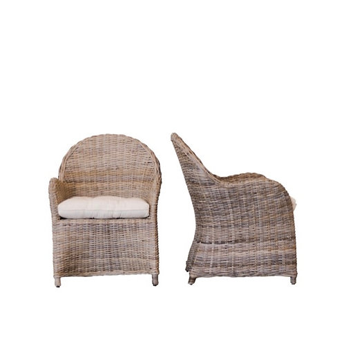 Round Back Wicker Chairs