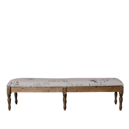The Gallery Hand-Painted Vine Bench