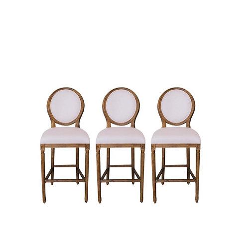 Linen Round Back Barstool