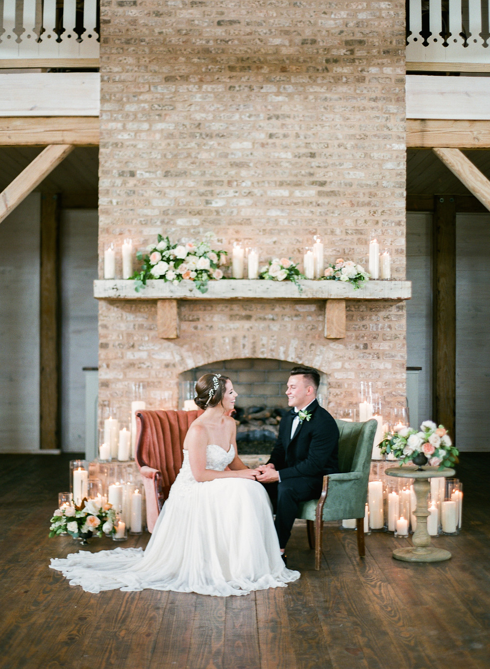 Bride and Groom Fireplace