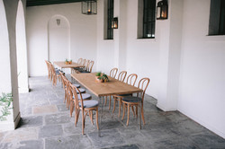 Chic Bentwood + Industrial Seated Dinner
