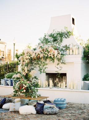 Luxe Blue Garden Party- The Knot Rocks NOLA