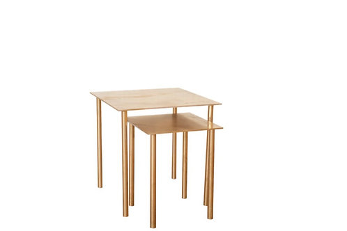 Sunset Gold Square Side Tables