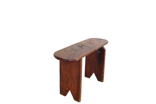 Carved Letters Stool