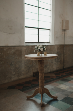 Wooden Highboy Table
