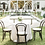 Thumbnail: Thonet Black Bentwood Chair with Cream Linen Cushion
