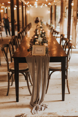 Family Style Table Seating