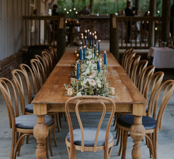 Woodland Tables + Smoky Blue Bentwoods