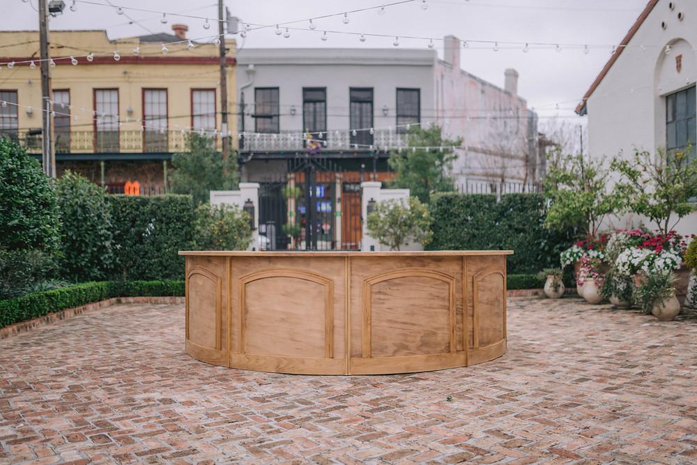 Wooden Bar Outside