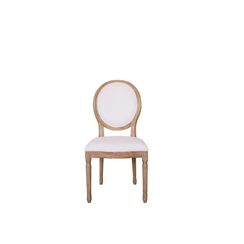 Linen Round Back Chairs