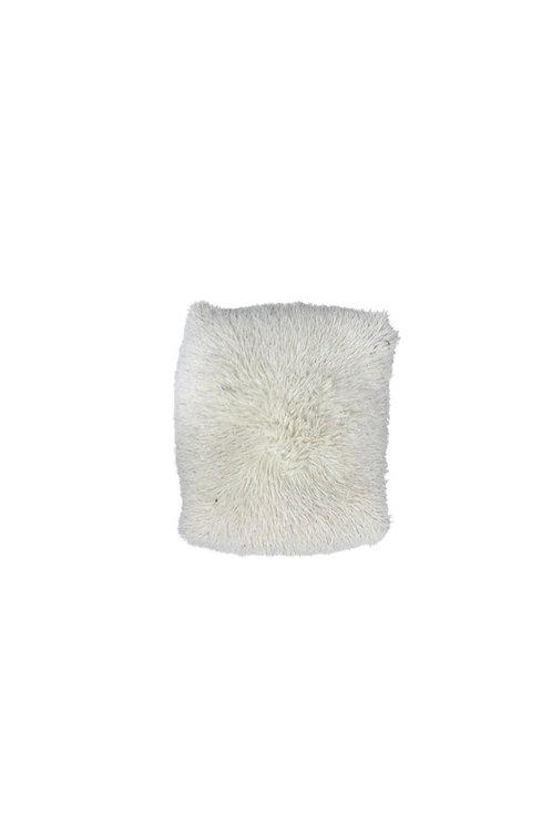 Cream Shag Floor Pillow
