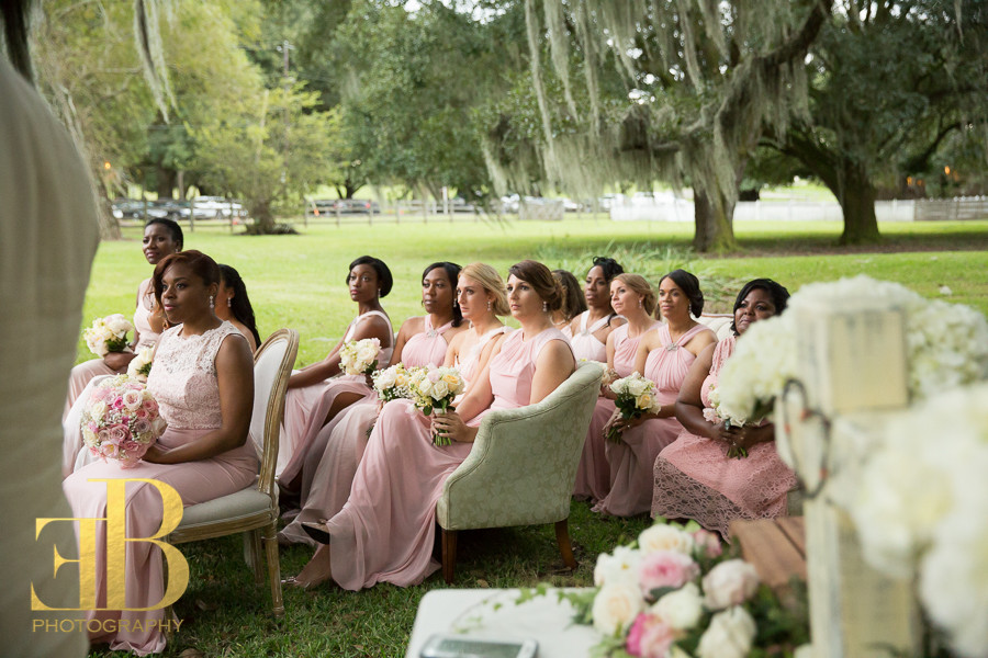 Sofa Ceremony Seating Destrehan Wedding