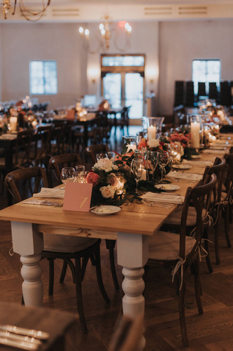 Wood Table Seating Il Mercato Wedding New Orleans