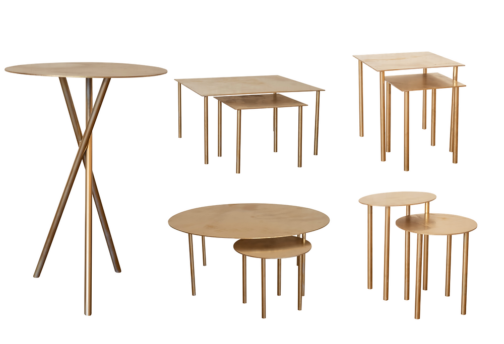 Gold Metal Table Collection
