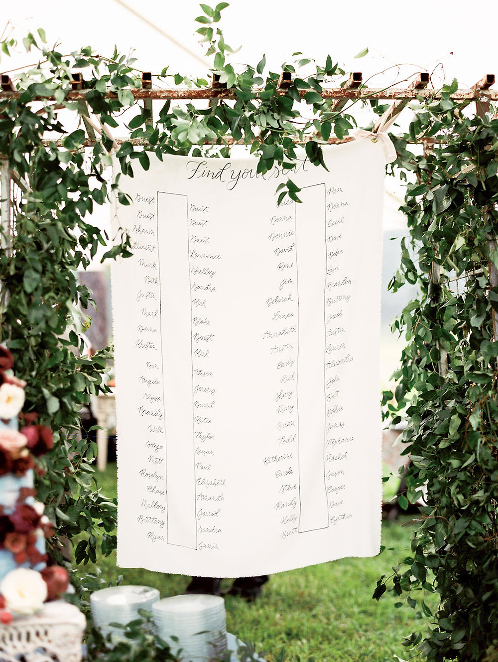 New Orleans Wedding Seating Chart