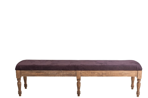 Plum Suede Bench