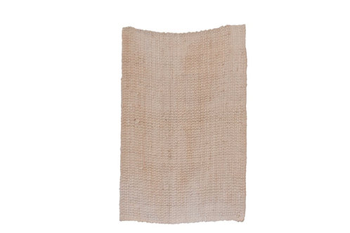 Small Bleached Jute Rug