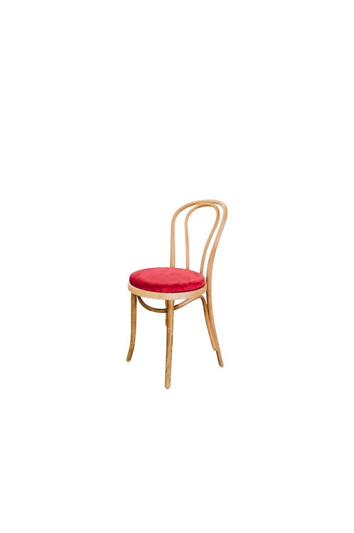 Bentwood Chair with Deep Pink Valentina Cushion