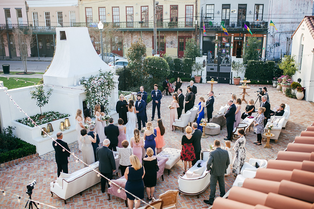 Sky View Soft Seating Wedding Ceremony at Il Mercato